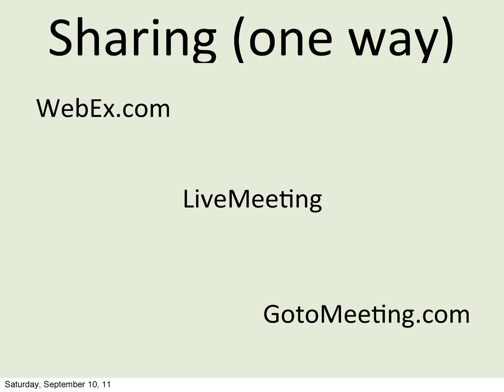 Sharing	