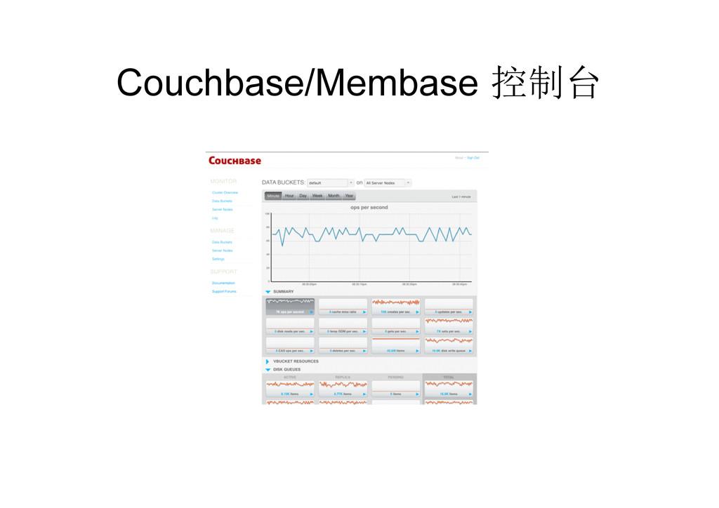 Couchbase/Membase 控制台