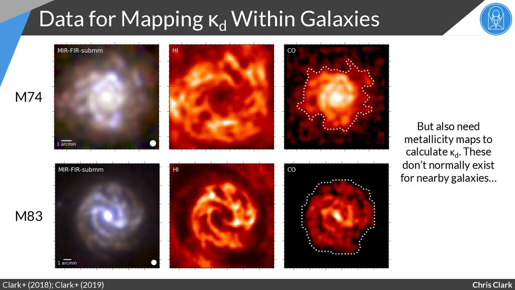Chris Clark Data for Mapping κd Within Galaxies...