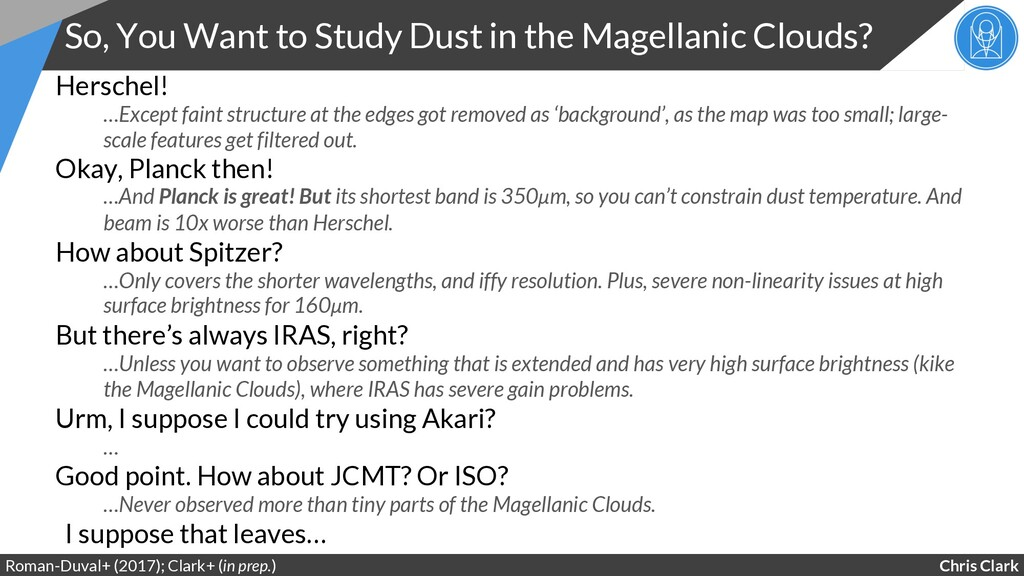 Chris Clark So, You Want to Study Dust in the M...