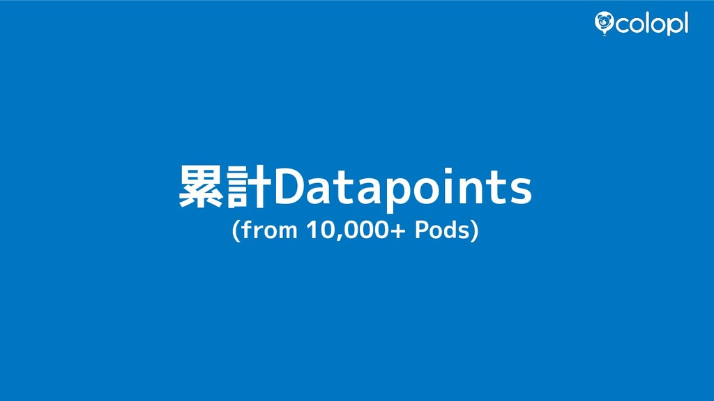 累計Datapoints (from 10,000+ Pods)