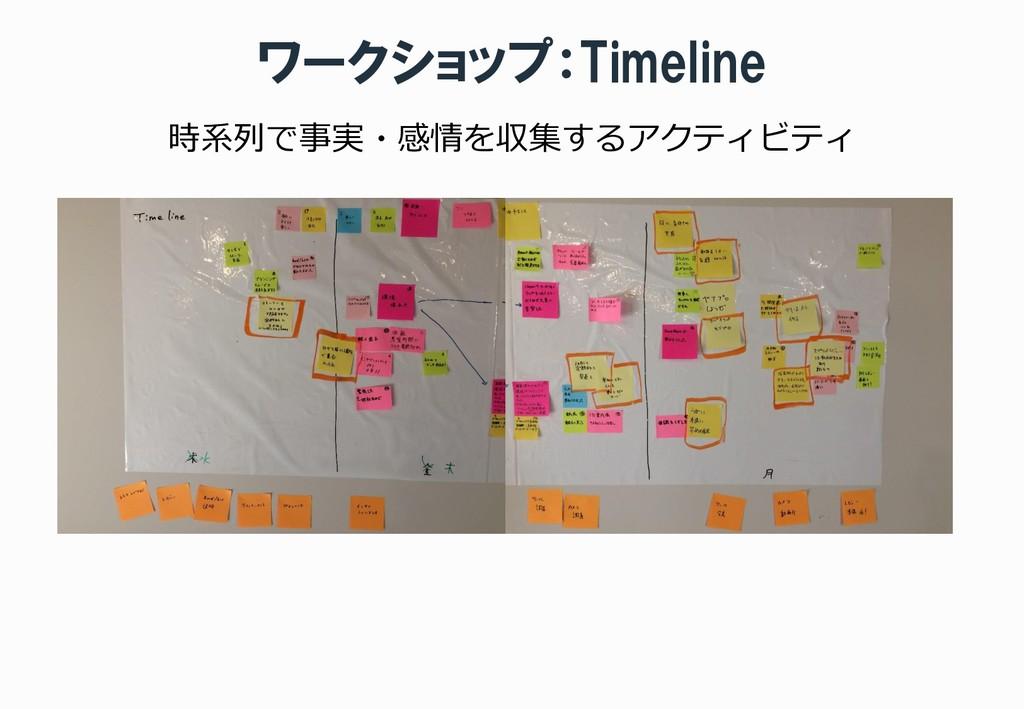 ワークショップ:Timeline 時系列で事実・感情を収集するアクティビティ