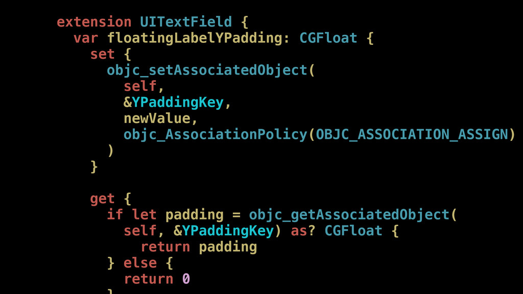 extension UITextField { var floatingLabelYPaddi...