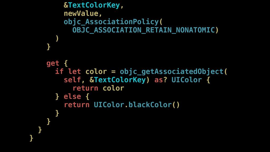 &TextColorKey, newValue, objc_AssociationPolicy...