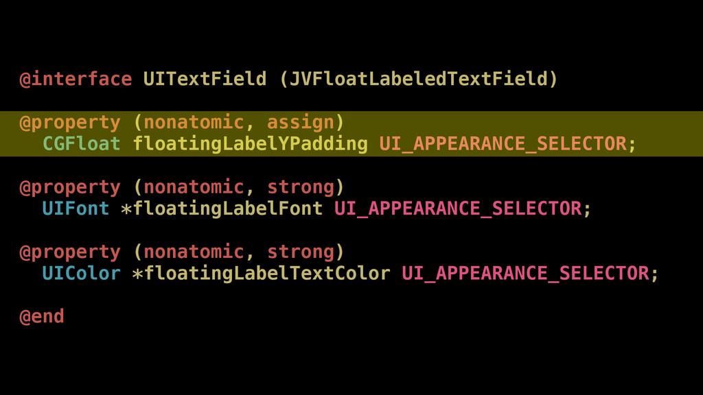 @interface UITextField (JVFloatLabeledTextField...