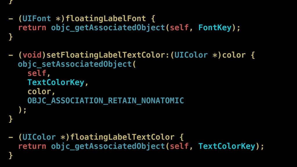 } - (UIFont *)floatingLabelFont { return objc_g...