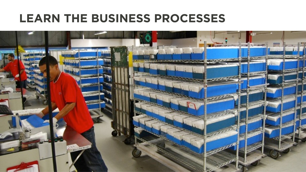 LEARN THE BUSINESS PROCESSES