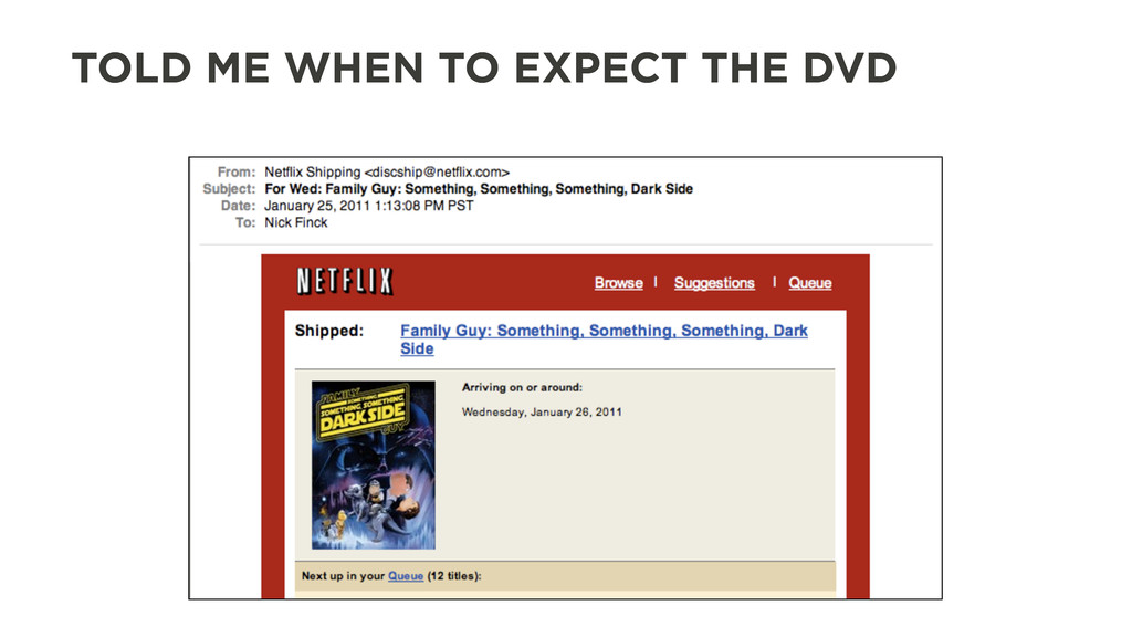 TOLD ME WHEN TO EXPECT THE DVD