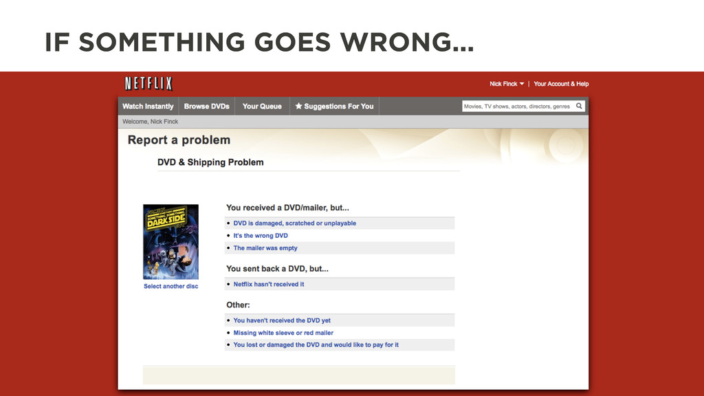IF SOMETHING GOES WRONG...