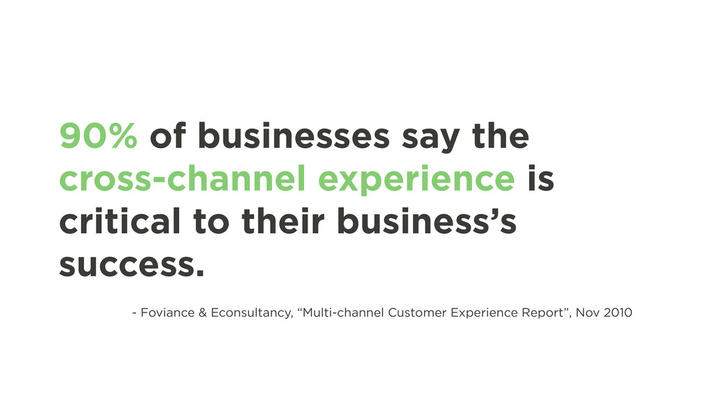 90% of businesses say the cross-channel experie...