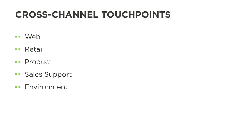CROSS-CHANNEL TOUCHPOINTS Web Retail Product Sa...