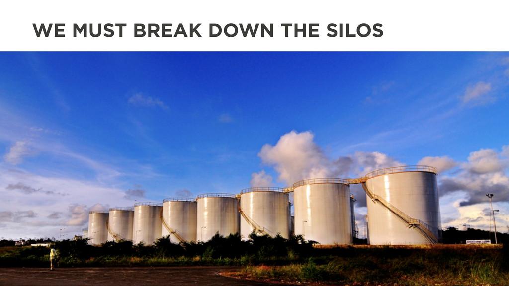 WE MUST BREAK DOWN THE SILOS