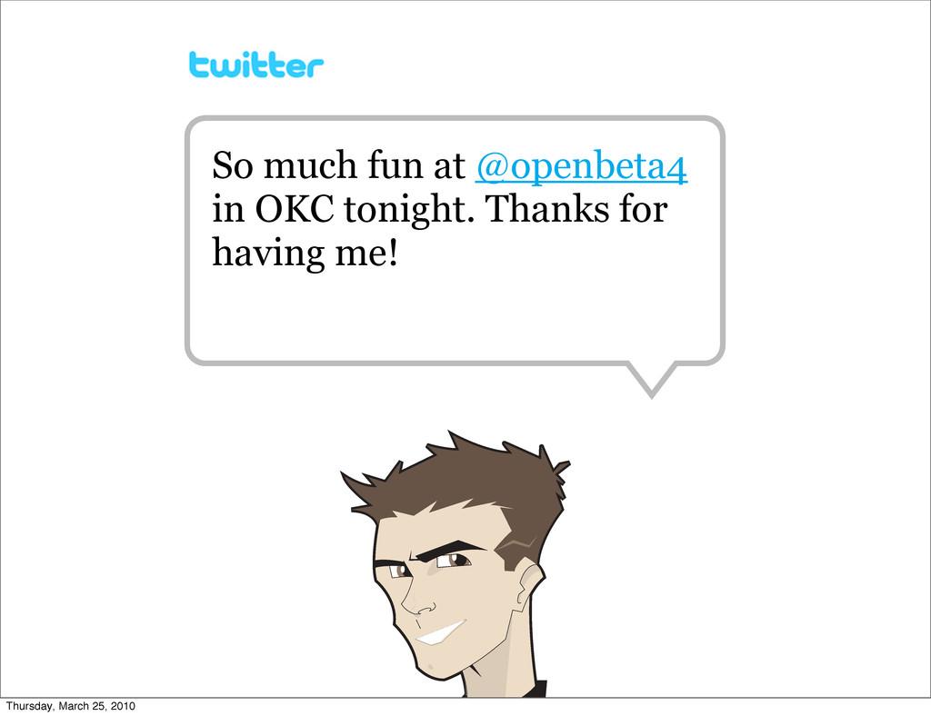 So much fun at @openbeta4 in OKC tonight. Thank...