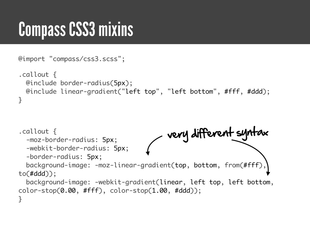 """@import """"compass/css3.scss""""; .callout { @includ..."""