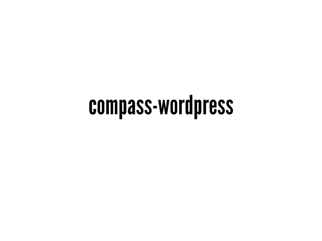 compass-wordpress