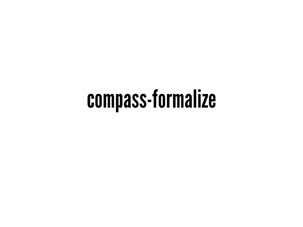 compass-formalize