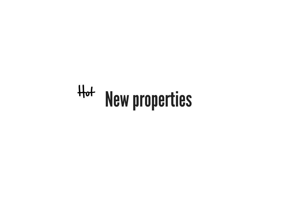 New properties Hot