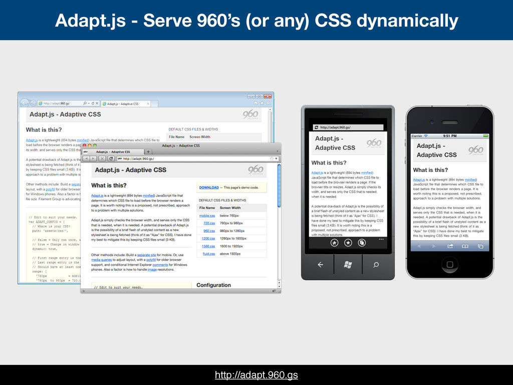 Adapt.js - Serve 960's (or any) CSS dynamically...