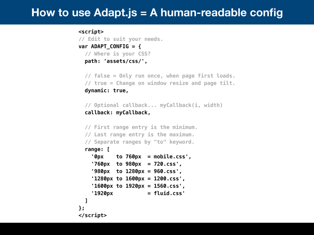 How to use Adapt.js = A human-readable config <s...