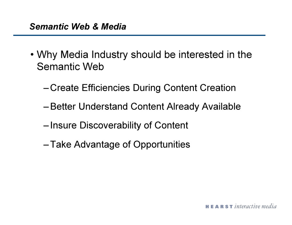 Semantic Web & Media •  Why Media Industry shou...