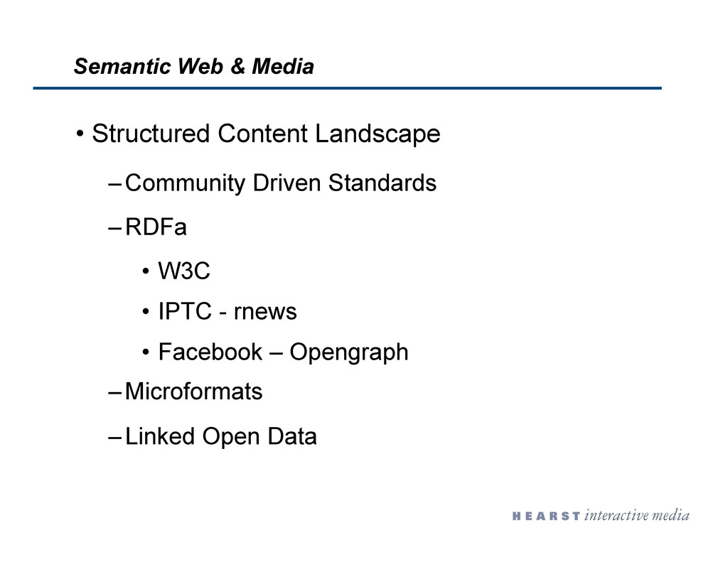 •  Structured Content Landscape – Community Dri...