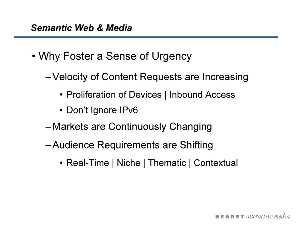 •  Why Foster a Sense of Urgency – Velocity of ...