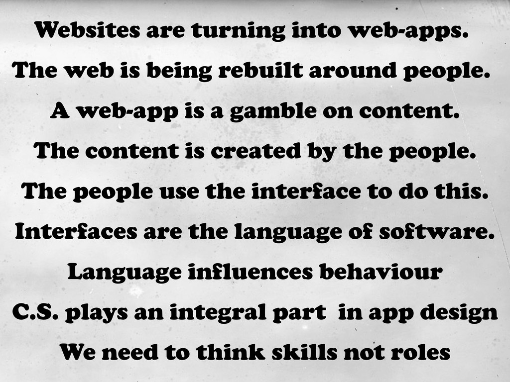 The web is being rebuilt around people. The con...