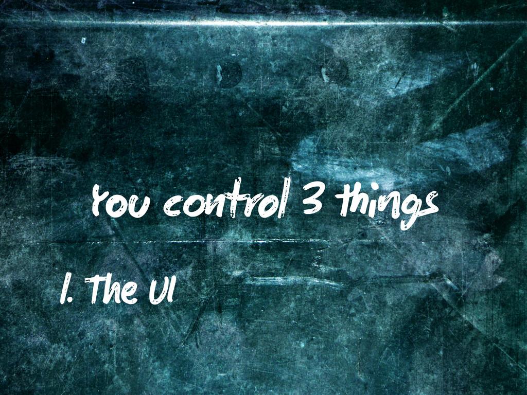 Y c trol 3 gs 1. T UI
