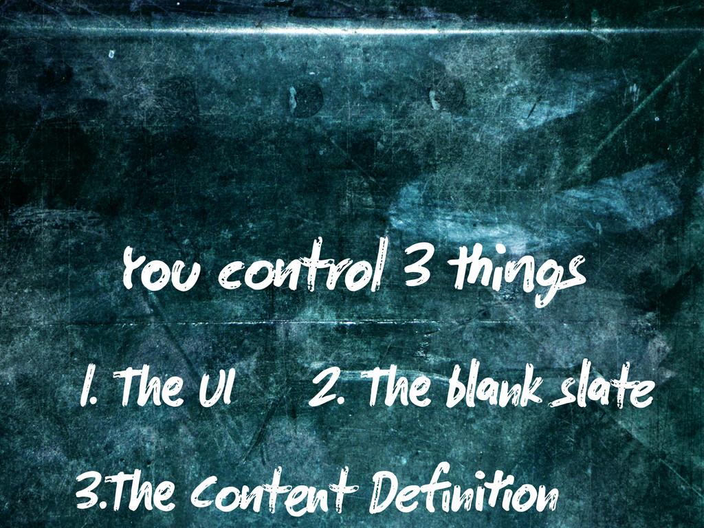 Y c trol 3 gs 1. T UI 2. T b nk s te 3.T C t t ...