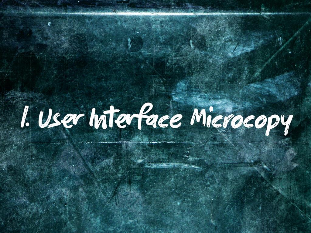 1. Us I face Microcopy