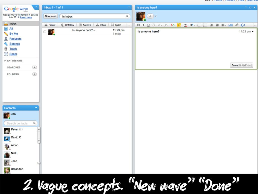 """2. Vag c cepts. """"New wave"""" """"D e"""""""