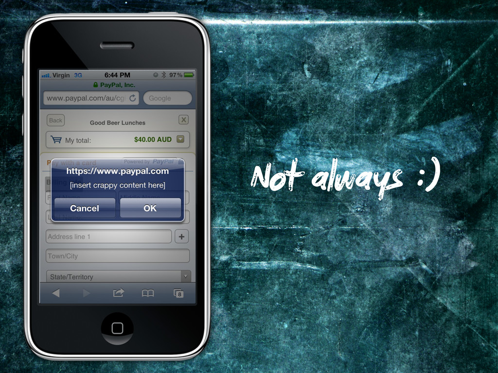 Not always :)
