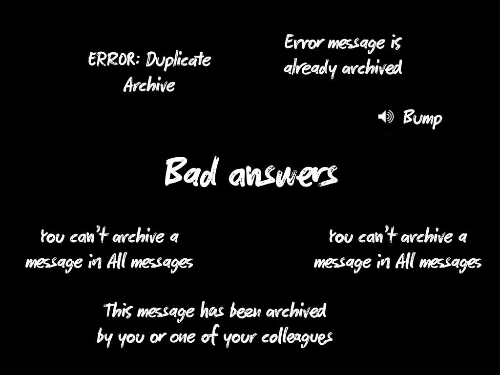R : Duplic e Archive E m sage al ady chiv Y c '...