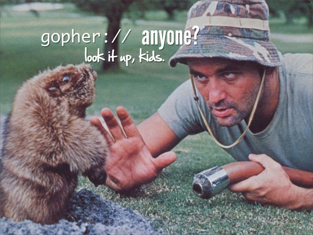 gopher:// look it up, kids. anyone?