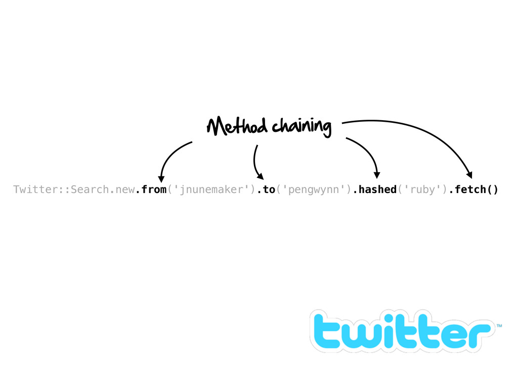 Twitter::Search.new.from('jnunemaker').to('peng...