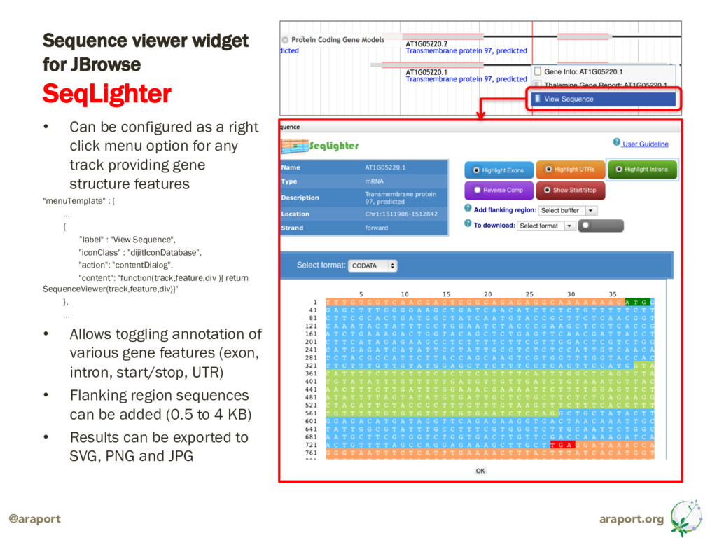 araport.org @araport Sequence viewer widget for...