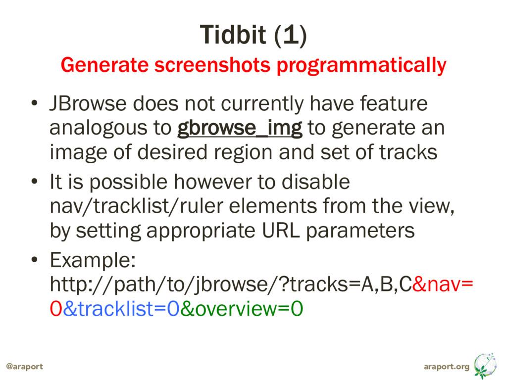 araport.org @araport Tidbit (1) Generate screen...