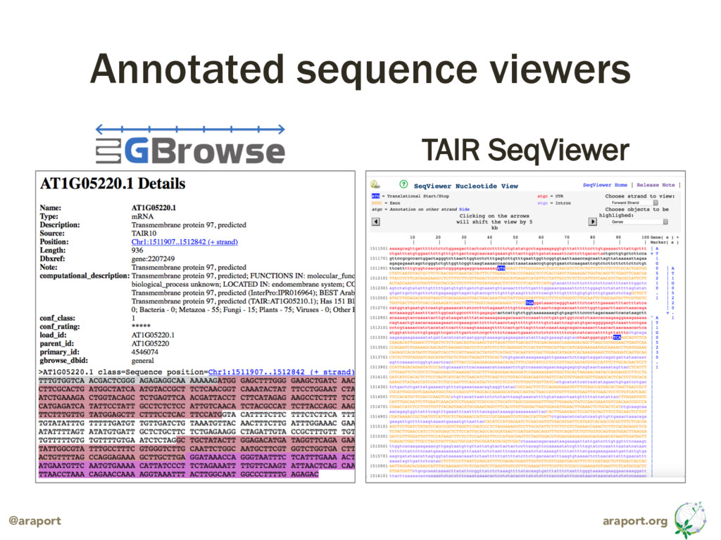 araport.org @araport Annotated sequence viewers...