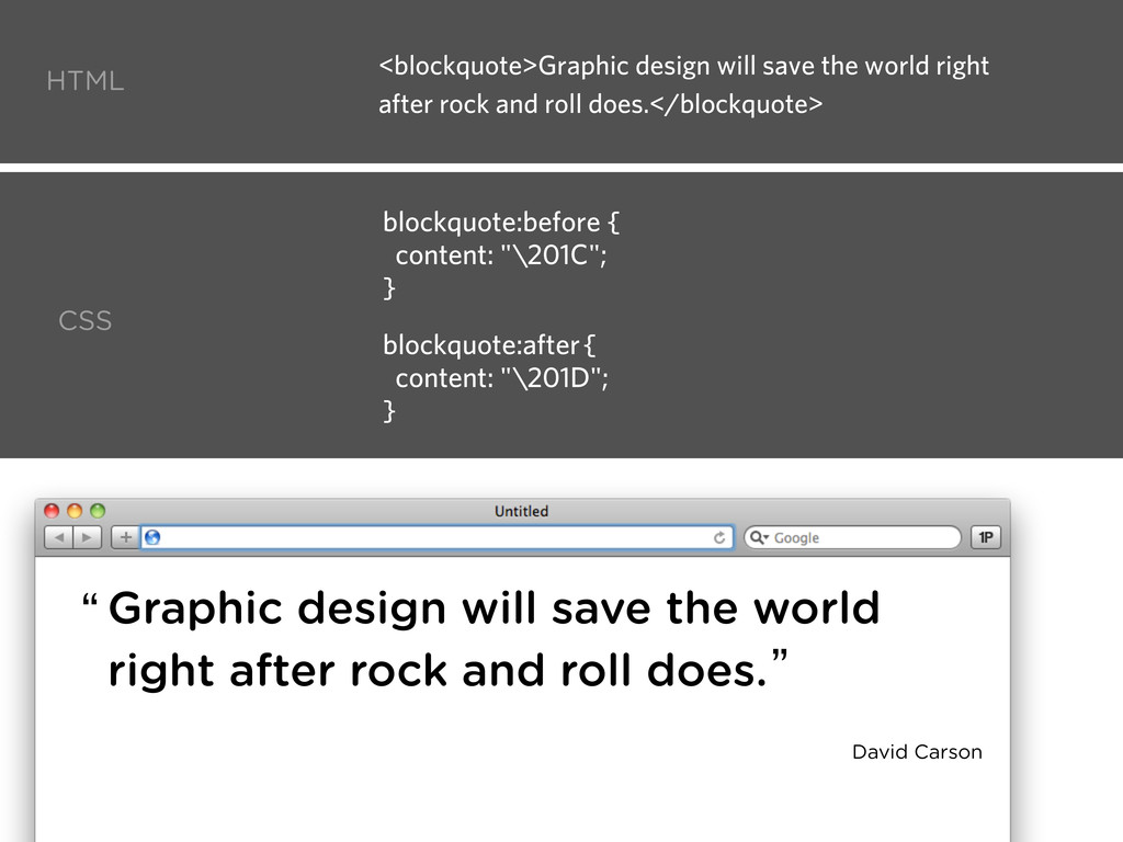 HTML CSS Graphic design will save the world rig...
