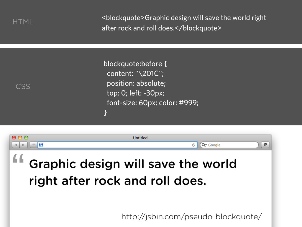 Graphic design will save the world right after ...