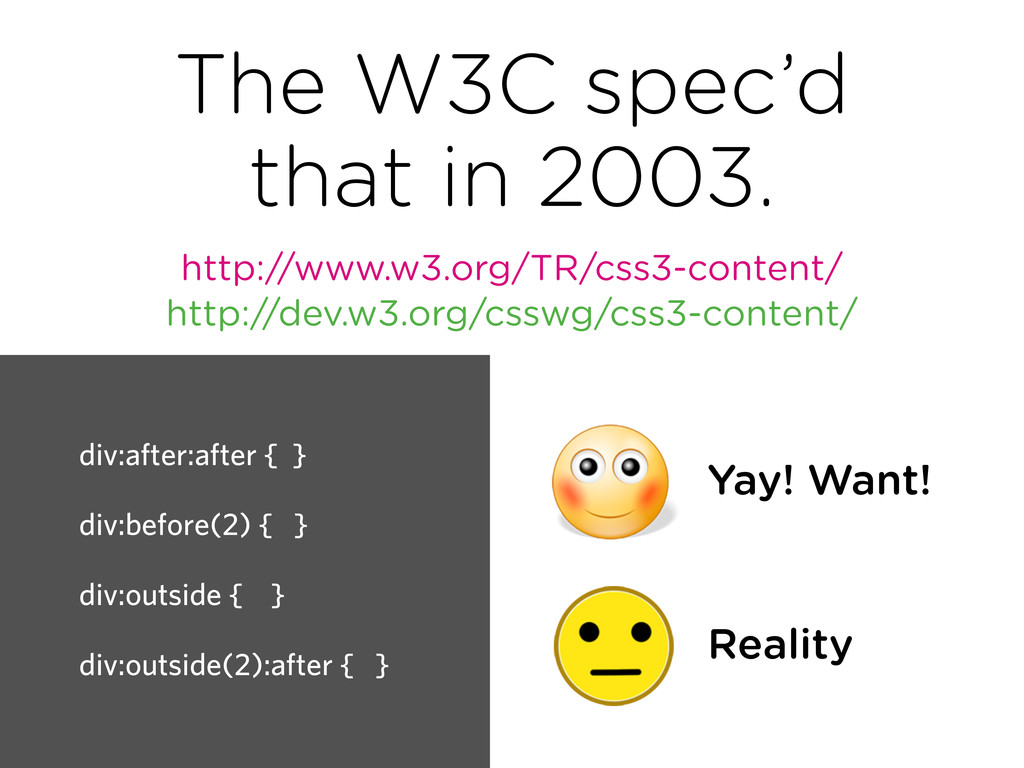 The W3C spec'd that in 2003. http://www.w3.org/...