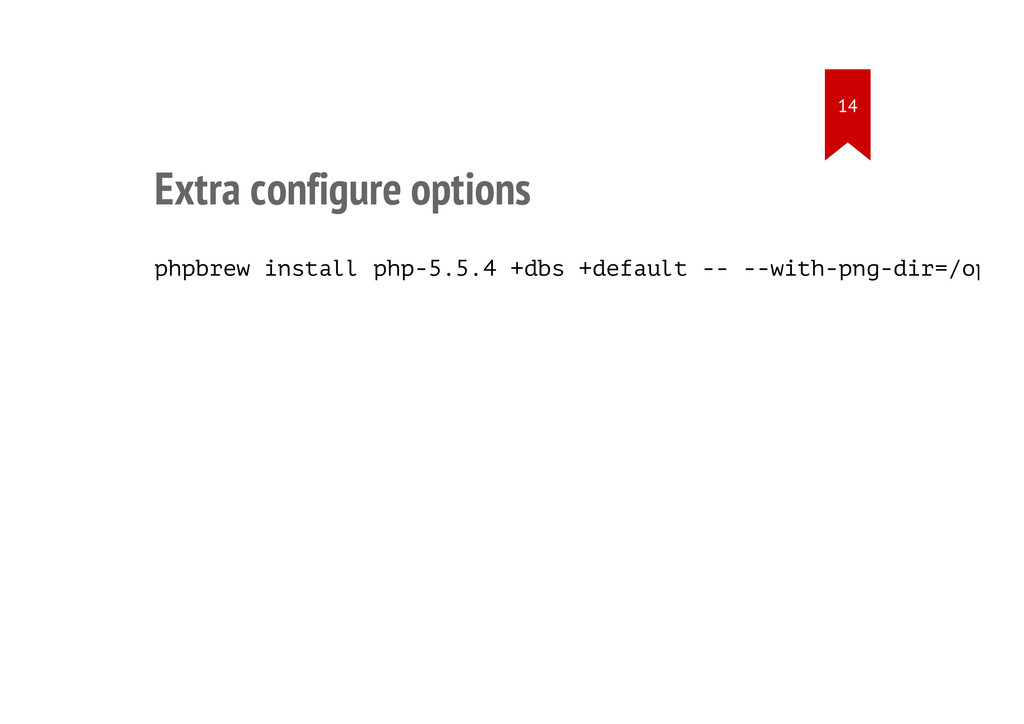Extra configure options phpbrew install php-5.5...