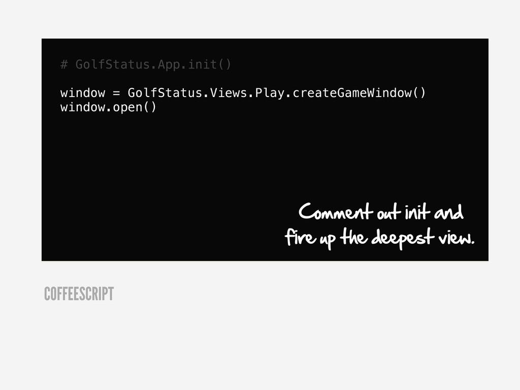 # GolfStatus.App.init() window = GolfStatus.Vie...