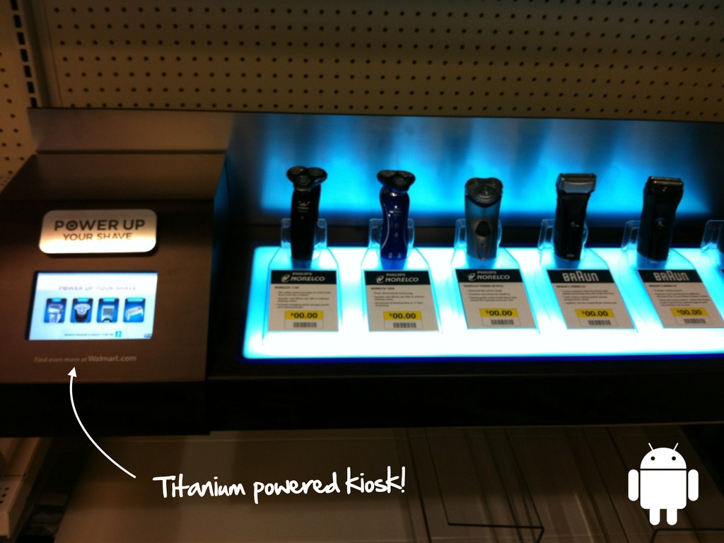 Titanium powered kiosk!
