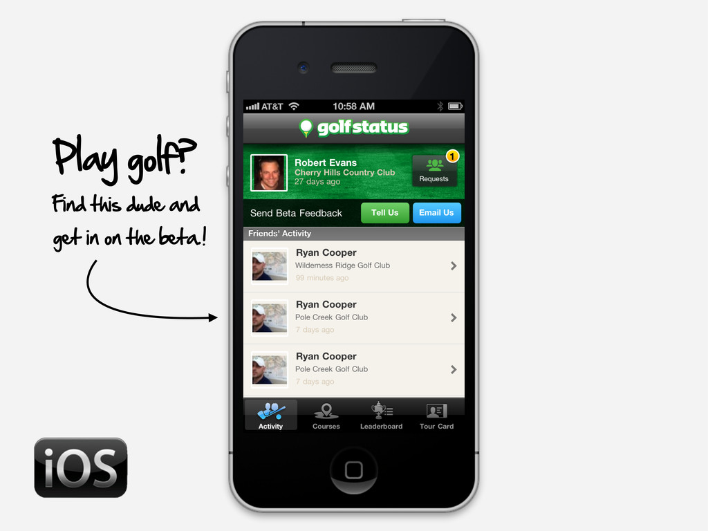 Play golf? Find this dude and get in on the bet...
