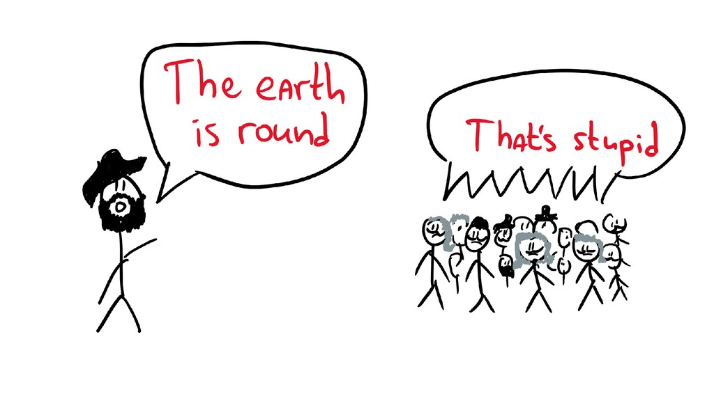 The Earth is round & people laughing