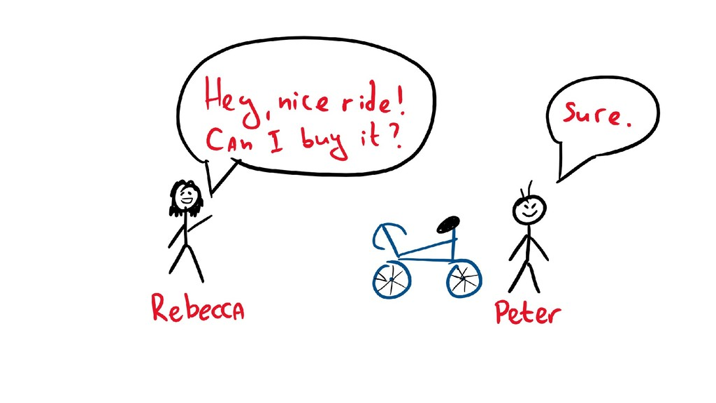 TODO: Rebecca buying a bike from Peter
