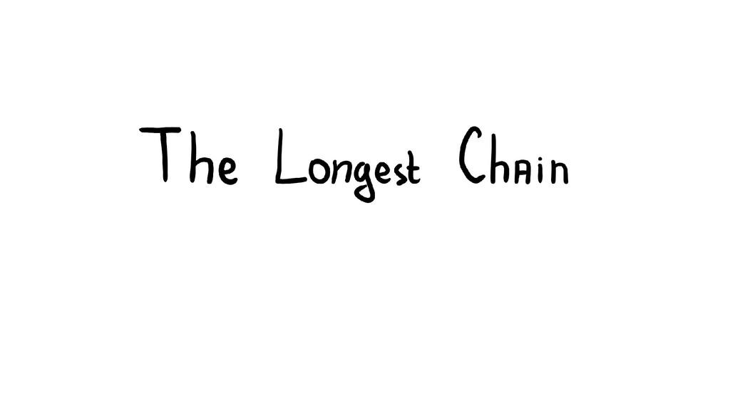 Longest Chain Consensus