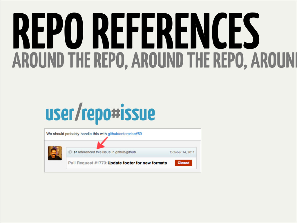 REPO REFERENCES AROUND THE REPO, AROUND THE REP...