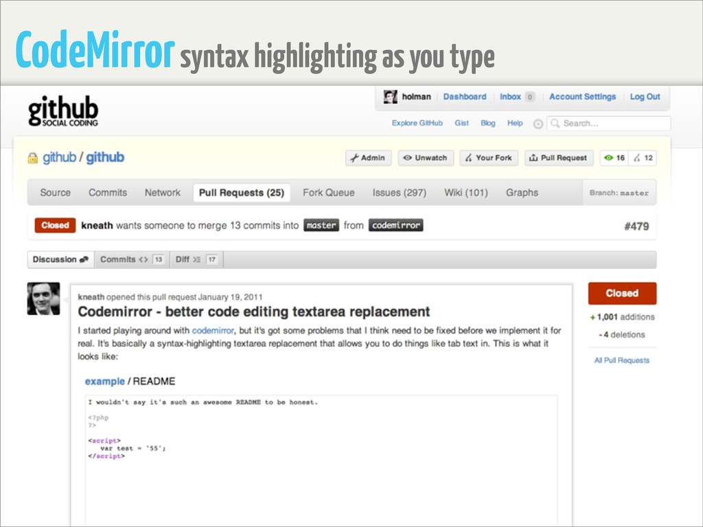 CodeMirror syntax highlighting as you type